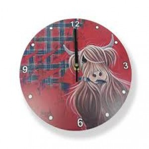 McMoo Highland Cow Clock