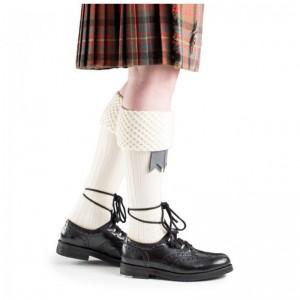 Hose - Piper Sock 'Arran' (Cream)