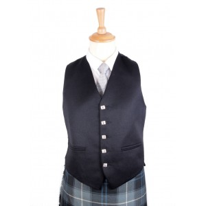 Argyll Vest - Black (IN STOCK)